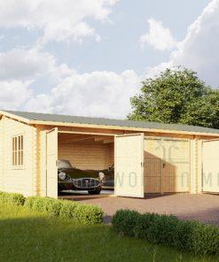 Medinis trivietis garažas (53 m ²)