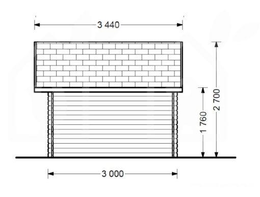 Medinis namukas BENINGTON 13m² (4.5m x 3m), 34mm