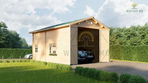 Aukštas garažas Camping 4m x 8m, 44mm, 32m²