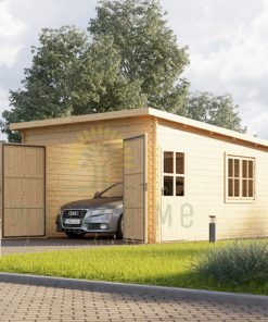 Modernus garažas 24m² (4m x 6m), 44mm