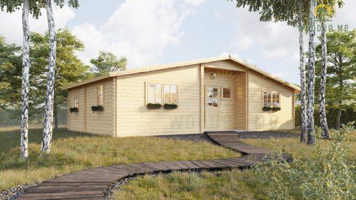 Medinis vasarnamis Fill 61,8 m²