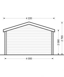 Sodo namelis Shanon 16 m2 + 7 m2