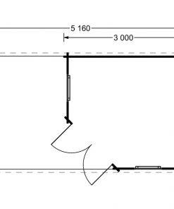 Aisne plus 9 m2, 28 mm - Grindų planas