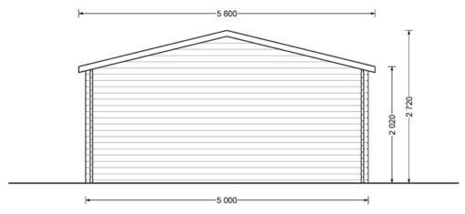 Sodo namelis Dreux 20m² (5x4)