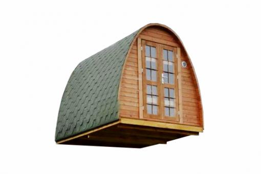 Pirtis kokonas/Poilsiavietės namelis POD 2.4 m x 3 m - termo mediena