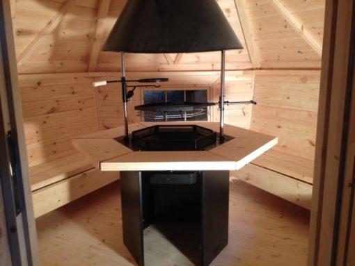 Griliaus namelio 4,5 m2 vidus