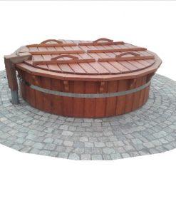 Kubilas terasai - plastikinis įmontuojamas į terasą kubilas