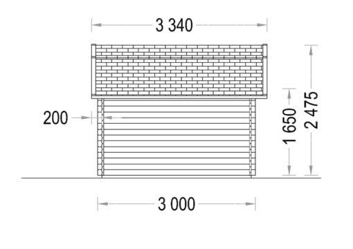 ORLANDO 9m² -Kairė