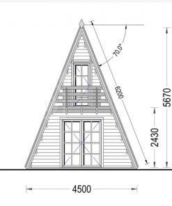 Sodo namas TIPI (4.5m x 7m), 44 mm