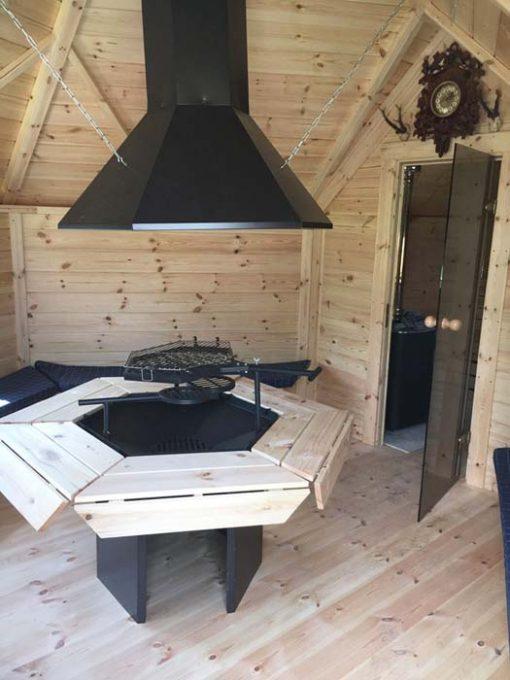 Griliaus namelis 9.2 m² su pirtis prailginimu