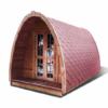 Poilsiavietės namelis Pod (kokonas) 2,4 m x 4 m- termo mediena