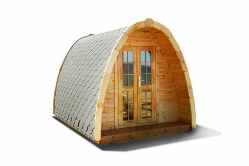 Poilsiavietės namelis Pod (kokonas) 2,4 m x 4,8 m - termo mediena