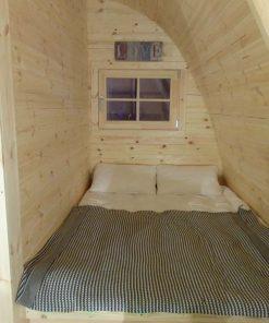 Poilsiavietės namelis Pod (kokonas) 3 m x 4,8 m