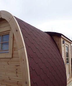 Apšiltintas namelis Pod 2.4 m x 6.0 m (su šoniniu įėjimu)