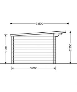 Sodo namelis Lille plokščiu stogu 12 m², 34 mm