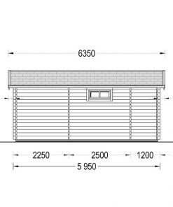 Medinis vasarnamis Alto plokščiu stogu 31m²