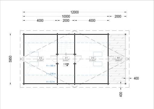 Medinis vasarnamis AURA 72 m²