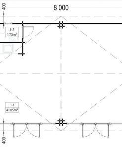 Medinis vasarnamis MARINA 48 m²