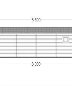 Medinis vasarnamis MILA 56 m²