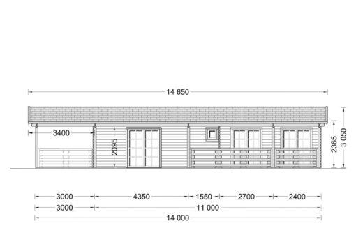 Medinis vasarnamis TOSCANA 50m²