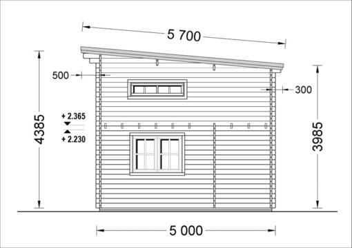 Sodo namelis AVIGNON plokščiu stogu 19.9m²