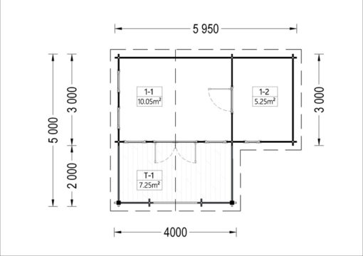 Sodo namelis ISLA 18m² + terrass