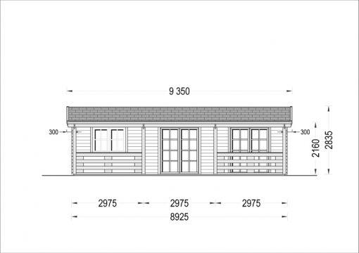 Rąstinis namas AMELIA 54 m² - Priekis