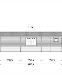 Rąstinis namas AMELIA 54 m² - Atgal
