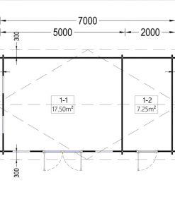 Sodo namelis LEA 28m²