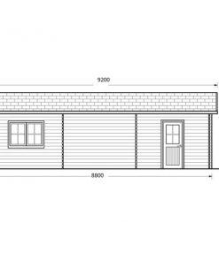 Dvivietis medinis garažas 49.9m²