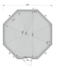 14.9 m² namelis poilsiavietei - PLANAS