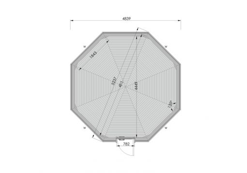 16.5 m² namelis poilsiavietei - PLANAS