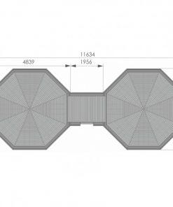 16.5 m² + 16.5 m² namelis poilsiavietei - PLANAS