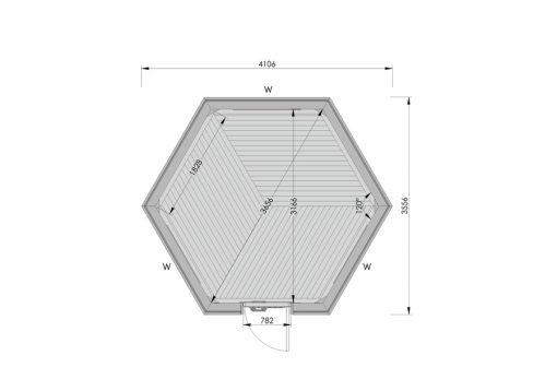 9.2 m² namelis poilsiavietei - PLANAS