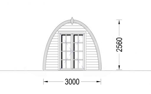 BRETAGNE 18m² (3×6) 30mm