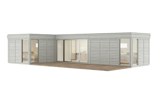 Glamping Cube 42 m² (L Forma)