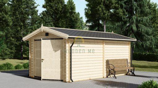 Garažas 16,6m² (3,20 x 5,20), 44mm