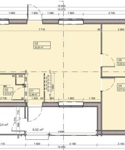 Medinis vasarnamisAnna A 1030 cm x 760 cm (78.3 m²)