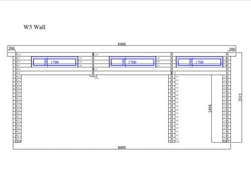 Dviejų vietų garažas Favori 5.7m x 7.7m; (43.7 m²)