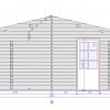 Tivoli - Dviviete stoginė su priestatu (5,95 m x 7.5m), 44mm