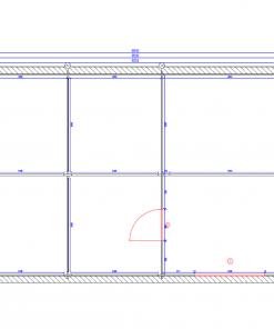 Tivoli - Dviviete stoginė su priestatu (5,95 m x 7.5m), 44mm - Planas