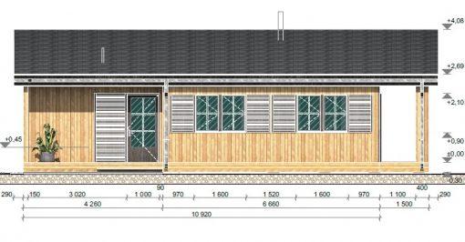 Medinis vasarnamisTulipa A (74.1 m²)