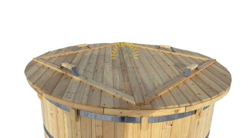 Maumedžio medienos kubilas - naturalus dangtis