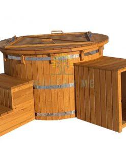 Maumedžio medienos kubilas su smėlio filtrui