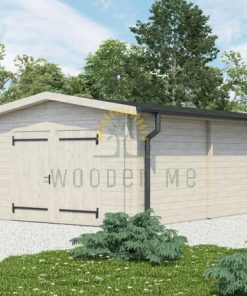 Garažas Woody 3.7 m x 7.2 m (26.8 m²)